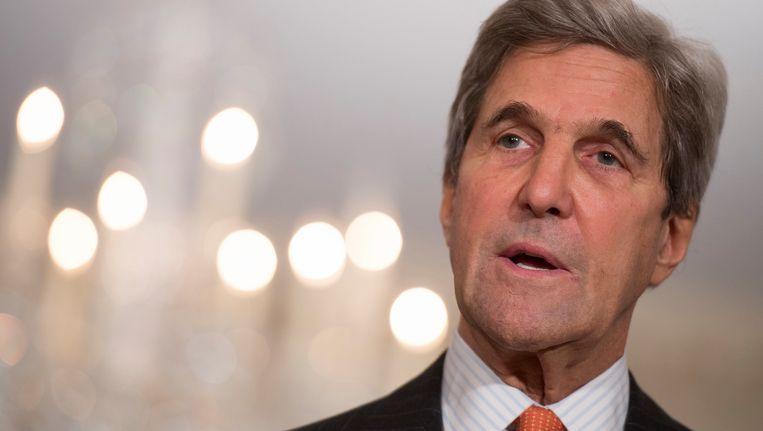 De Amerikaanse minister van Buitenlandse Zaken John Kerry.