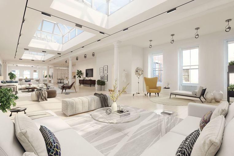 Via de grote ramen valt er overal veel licht binnen, de plafonds zijn 3,5 meter hoog.