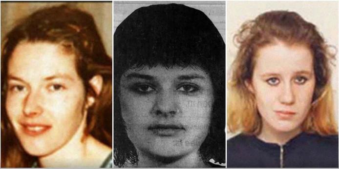 Vlnr: Mientje van Balkom, Maria Hofland en Maria Christine Jonas behoren tot een groep van 85 vermoorde prostituees waarvan justitie de dader(s) hoopt te vinden.
