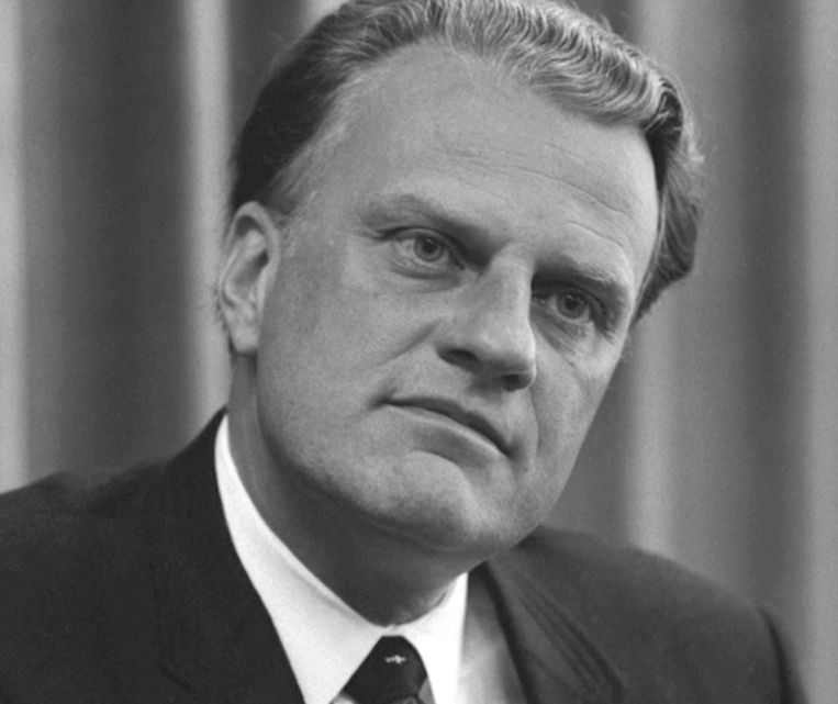 Billy Graham in 1966 Beeld United States Library of Congress