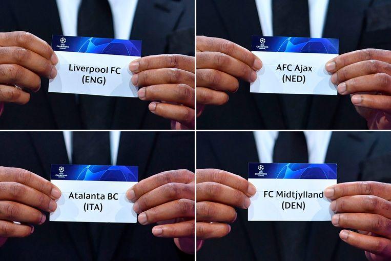 Loting van de Champions League, groep D. Beeld AFP