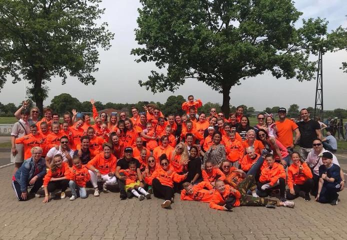De hele Bergse club bijeen toen de teams vorig jaar mee deden aan de Europese kampioenschappen in Kalkar. Nu is Boogie Down ook wereldkampioen.
