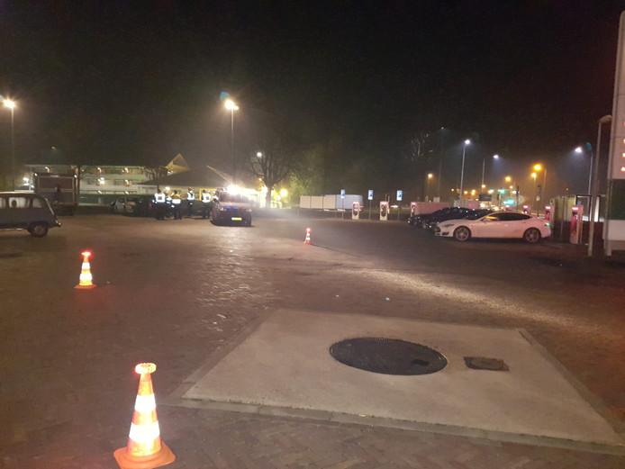De politiecontrole bij het AC Restaurant in Zevenaar.