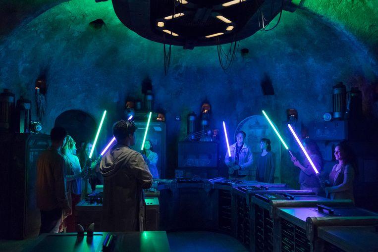 Galaxy's Edge in Disneyland Park in Anaheim, Californië. Beeld Joshua Sudock/Disney Parks