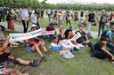 Sitdown-actie op Malieveld