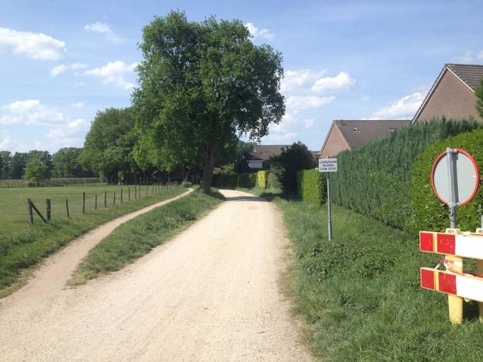 De Ravenhorstweg gaat bij de Goeman Borgesiusstraat verder als zandweg.