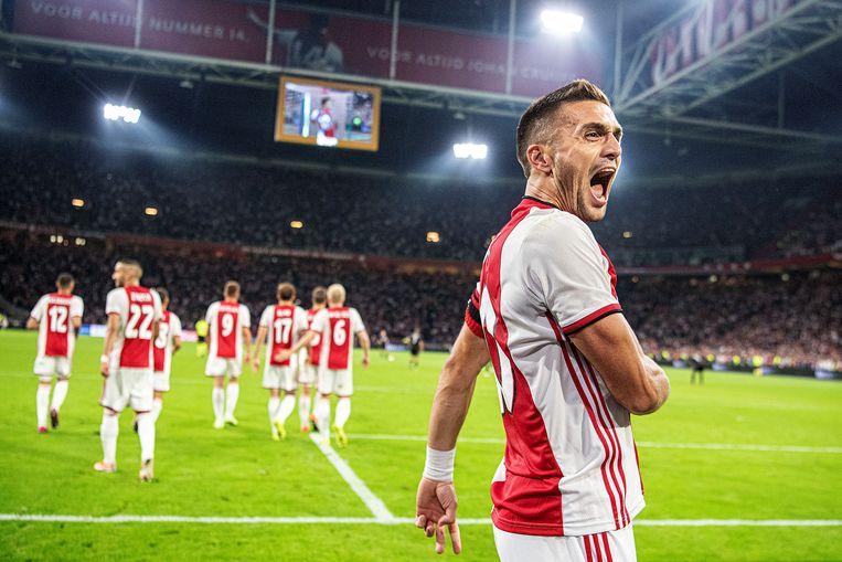 Champions League-halvefinalist Ajax kwam vorig seizoen tot liefst 32 punten. Beeld Guus Dubbelman / de Volkskrant