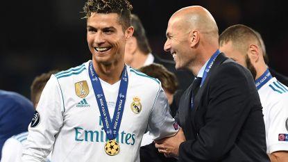 """""""Een ongelooflijke professional"""", """"Legende als speler en als coach"""" en """"Eeuwige 'Zizou'"""": Ronaldo en co eren hun afscheidnemende coach"""