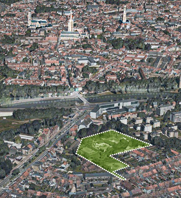 VT-Invest Group kocht de site die aangeduid is op het plannetje, nabij de Katelijnebrug aan de Baron Ruzettelaan.