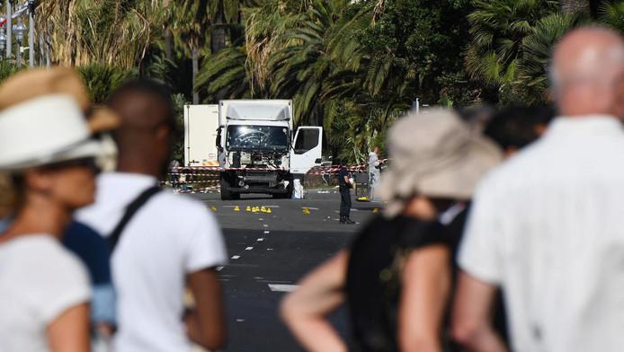 De vrachtwagen waarmee de aanslag werd gepleegd