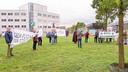 Protestactie bij Industriepark Kleefse Waard tegen een geplande biomassacentrale