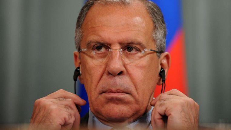 Minister Lavrov. Beeld afp