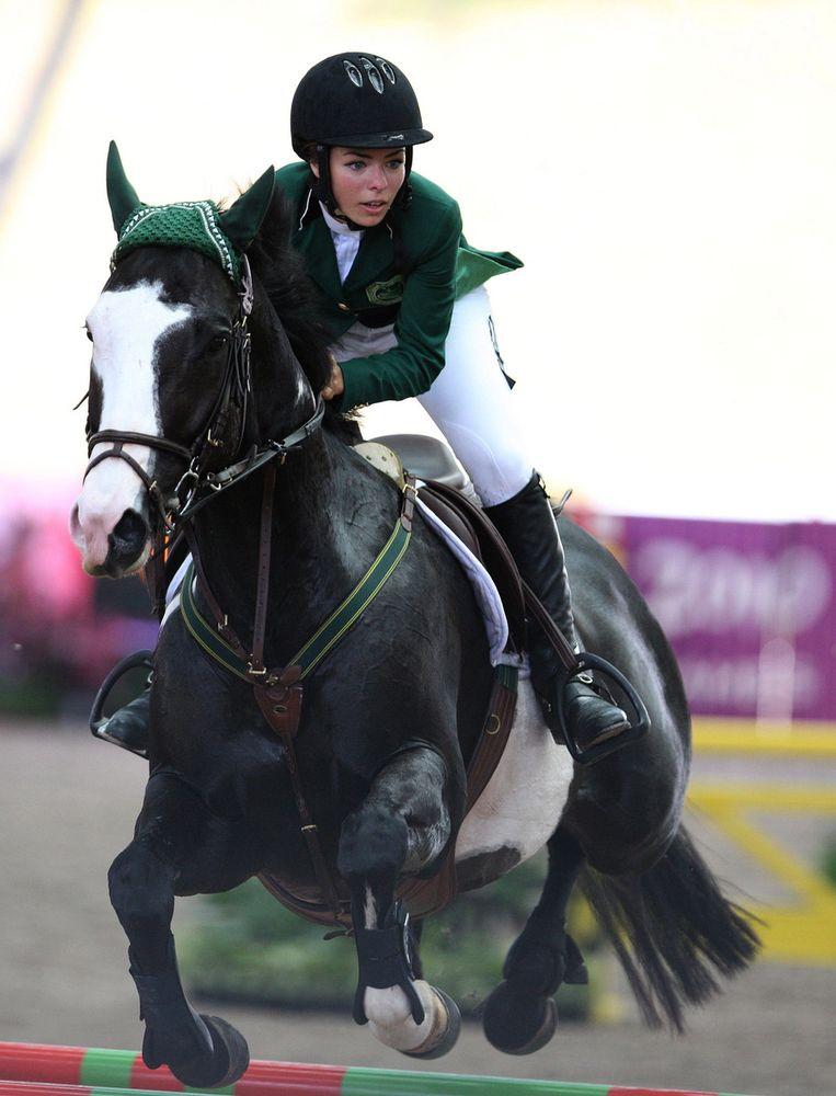 Dalma Rushdi Malhas won brons op de jeugd-Spelen namens Saudi-Arabië. Beeld null