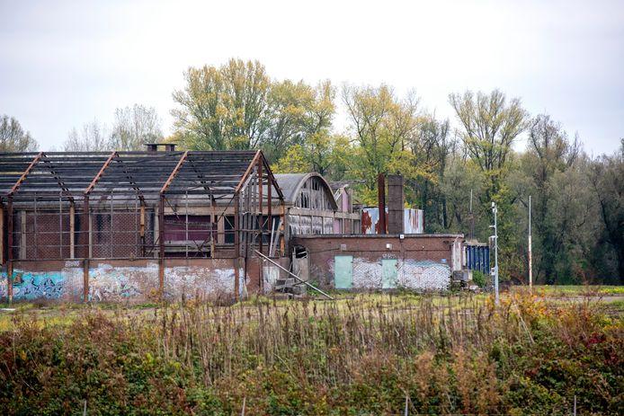 De voormalige steenfabriek De Groot in de uiterwaarden van de IJssel bij Velp.
