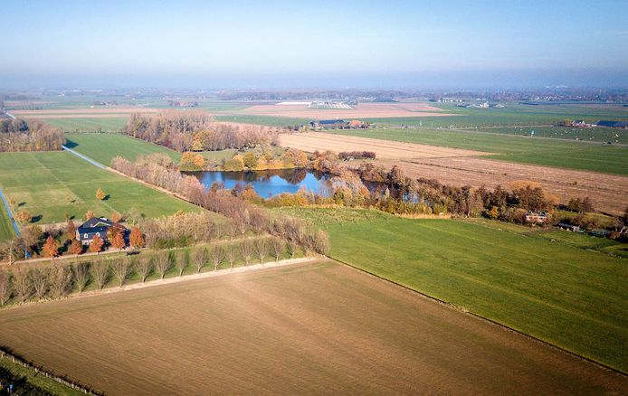 Landlust wil hier het recreatiepark 'Landgoed De Acht Morgen' vestigen.