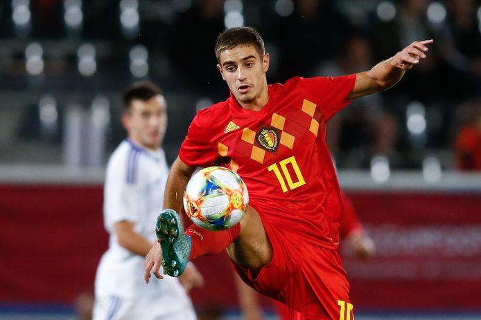 Francesco Antonucci als speler van België onder 21.