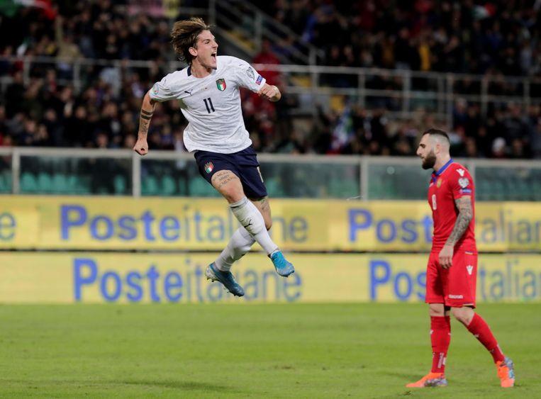 Niccolo Zaniolo scoorde twee keer.