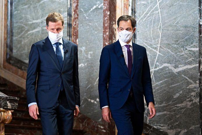 Paul Magnette avec le Premier ministre Alexander De Croo, le 30 septembre 2020.