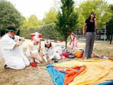 In een tentje slapen in het Griftpark om de hoek, wie wil dat nou niet?