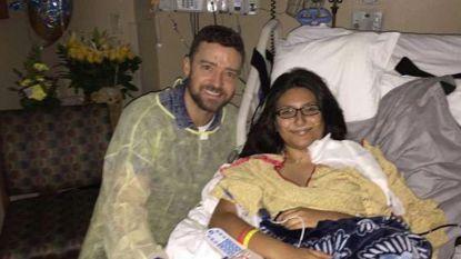 Justin Timberlake bezoekt slachtoffer schietpartij