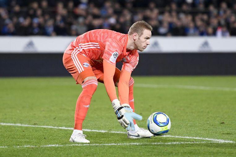 Matz Sels in actie voor zijn club Straatsburg.