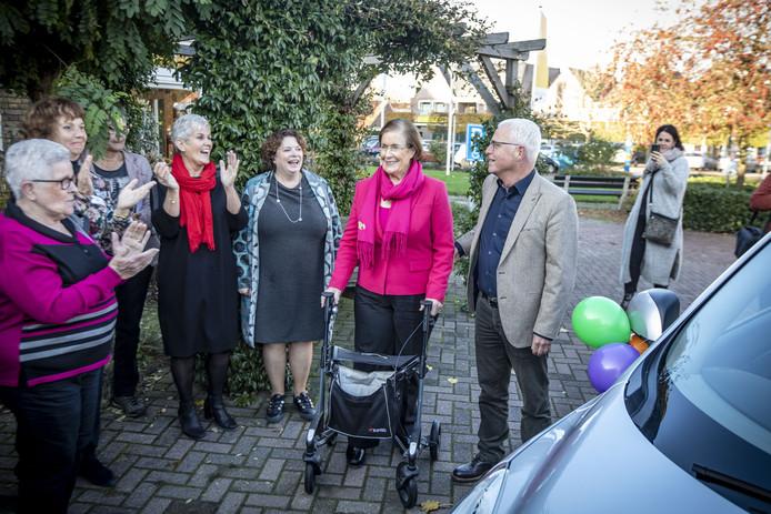 Tine Ploeg werd naar CoCer in Rossum gereden voor de opening van vervoersproject AutoMaatje.
