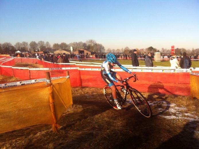 Laura Verdonschot in actie in Rucphen. Foto Ad Pertijs Twitter