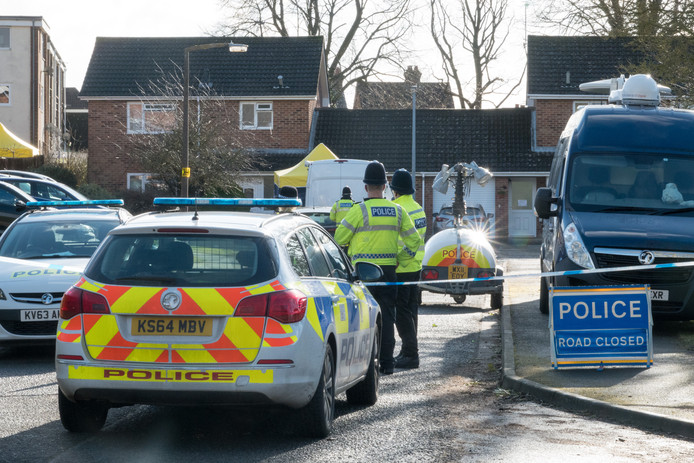 De woning van Skripal in Salisbury is nog afgezet door de politie.
