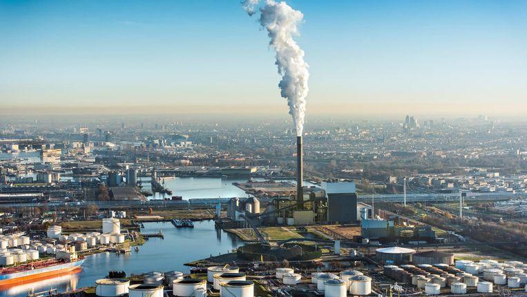De kolencentrale van Nuon aan de Hemweg in Amsterdam. Beeld anp