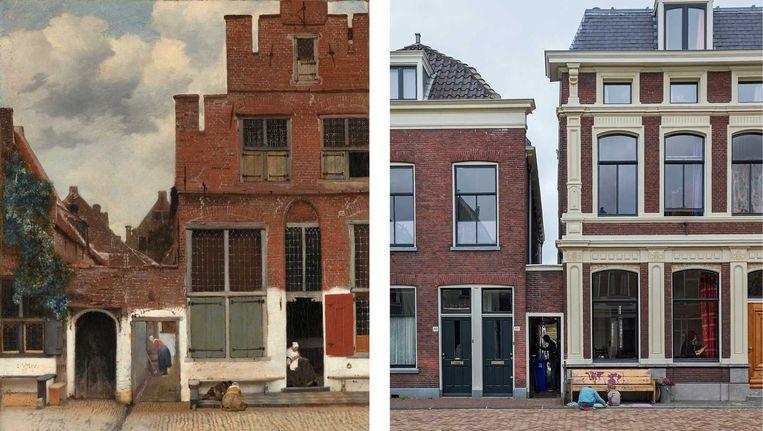 De oorspronkelijke locatie van het straatje van Vermeer dat Johannes Vermeer schilderde rond 1657-1658. Beeld anp