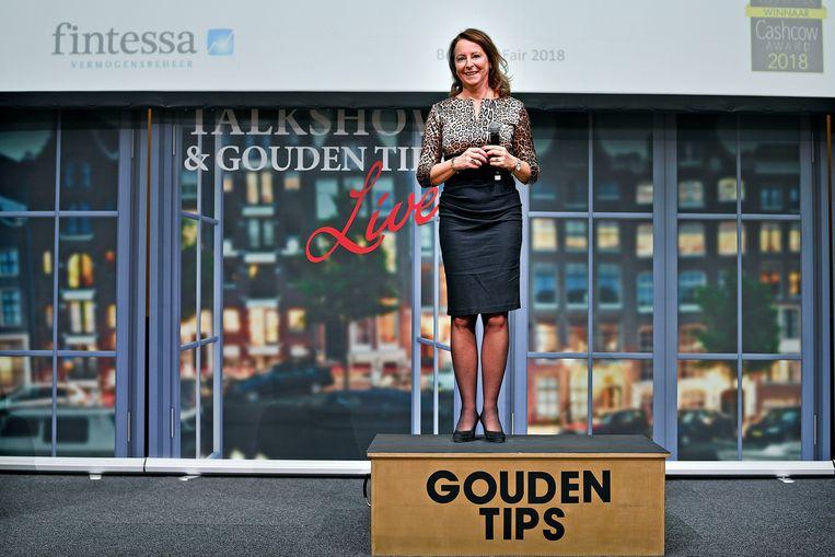 Martine Hafkamp van Fintessa staat op de bok om uitleg te geven over haar fonds.  Beeld vk