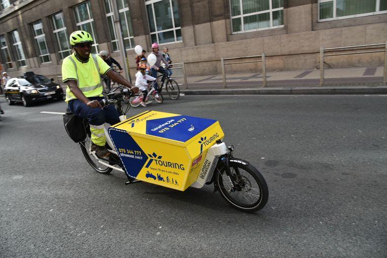 Touring doet nu pechverhelping in het centrum van Brussel en Gent per bakfiets