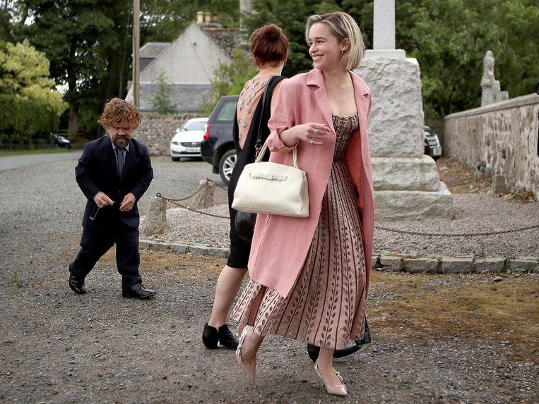 Peter Dinklage en Emilia Clarke arriveerden samen.