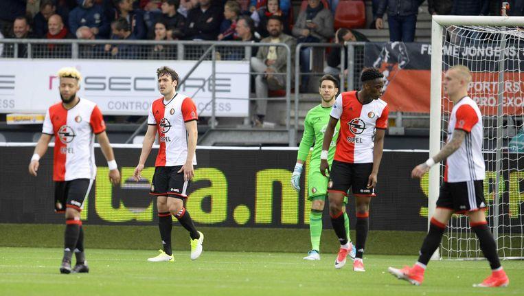 Ontgoocheling bij Feyenoord na de 3-0. Beeld anp