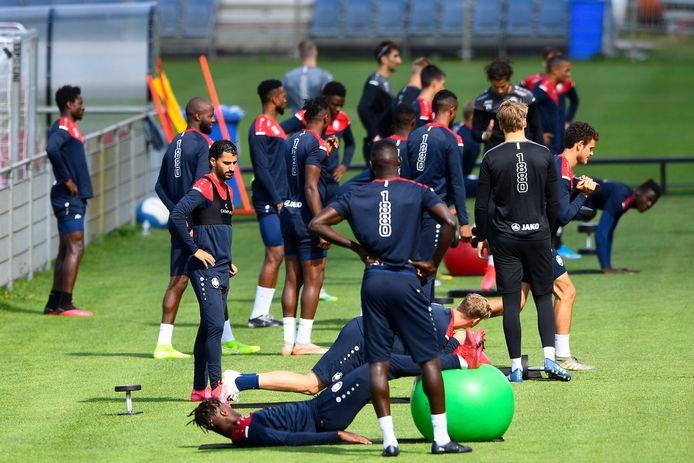 Antwerp-spelers vandaag op training.