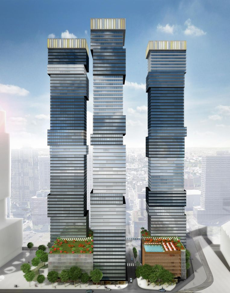 Artist impression Urby-concept in Jersey city. Beeld Concrete