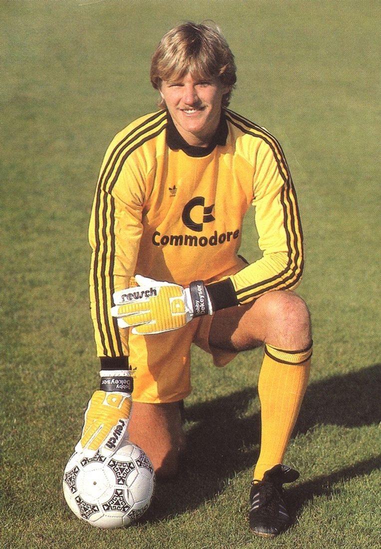 Bobby Dekeyser in 1987 bij Bayern München.