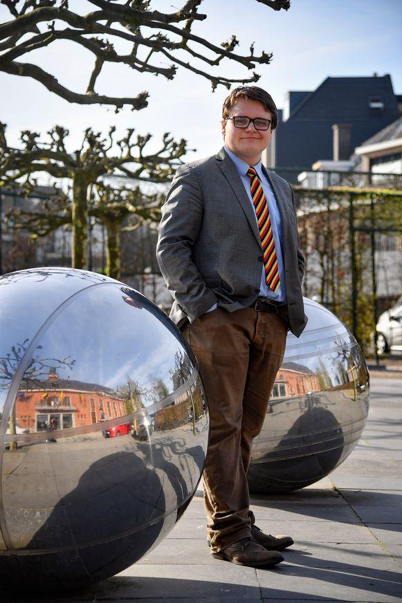 Ruben Van Miegroet van de actiegroep 'Openbaar Vervoer Nu'