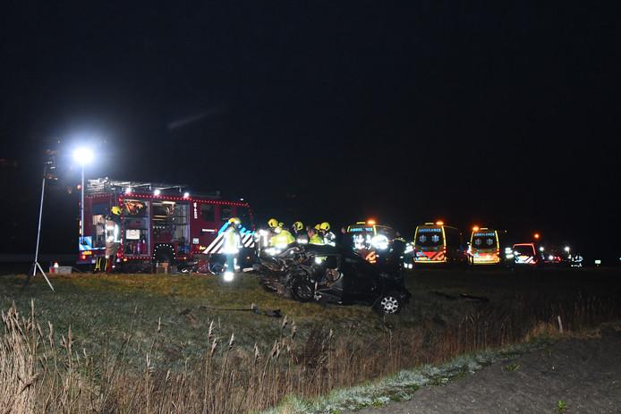 Twee gewonden bij ernstig ongeval op A58 bij Ritthem,.