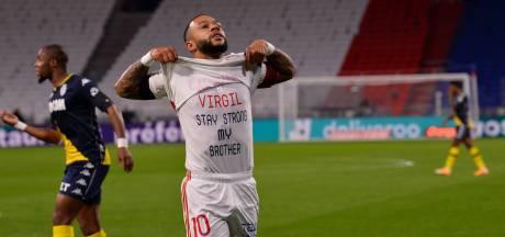 Depay scoort tegen Monaco en toont boodschap voor Van Dijk