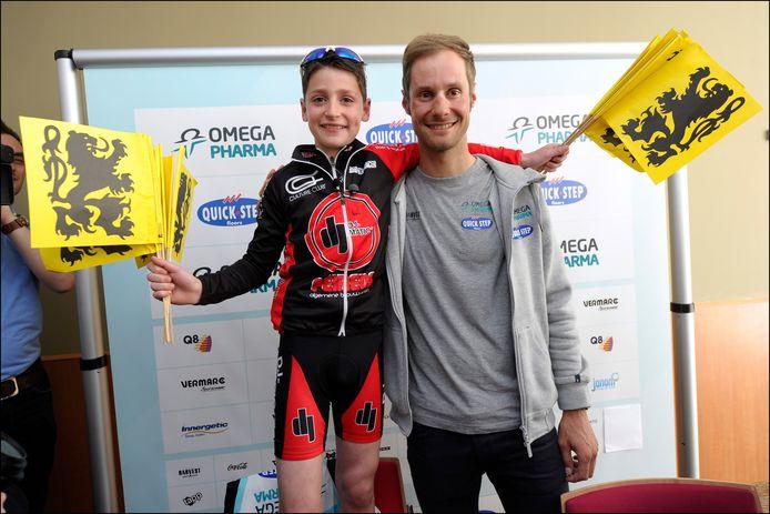 Tjörven ontmoette zijn idool Tom Boonen een week na de Ronde.