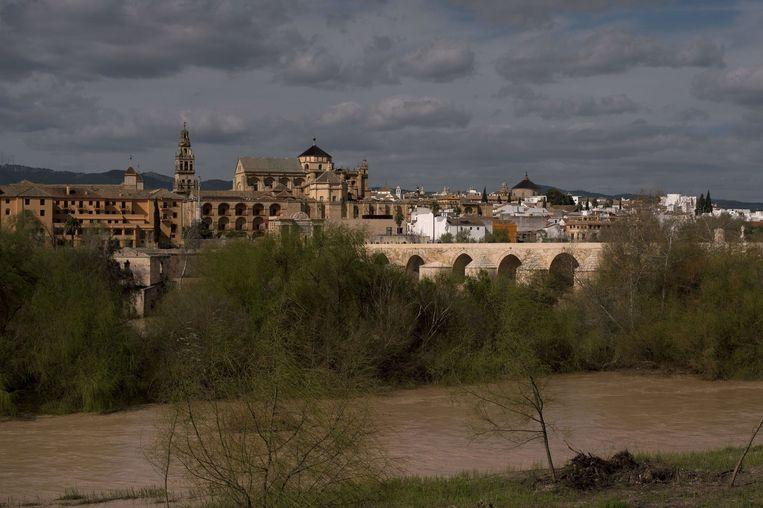 Stadsgezicht op Cardoba met op de achtergrond de beroemde moskee-kathedraal van de Spaanse stad. Beeld afp