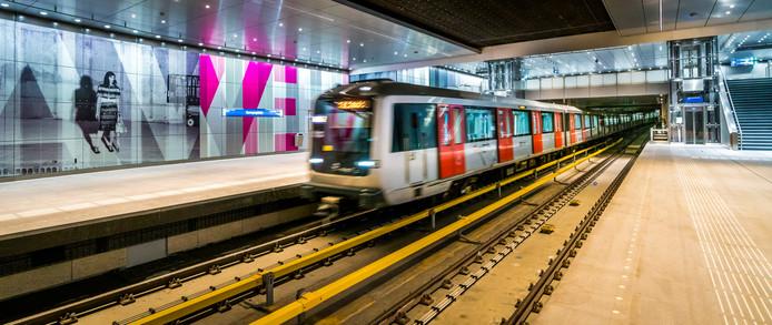 De Amsterdamse metro.
