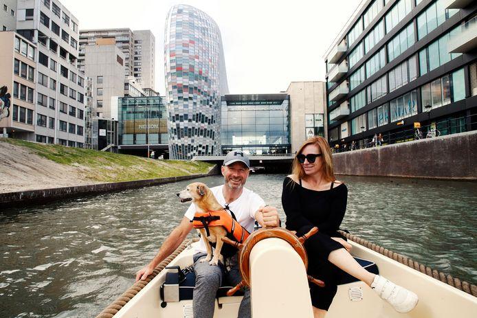 Direct na de heropening van de singel in september gingen Utrechters het water op.