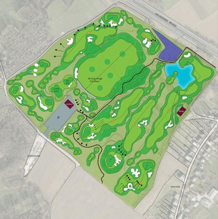Het golfterrein moet negen holes tellen en zich lenen voor beginnende golfers.