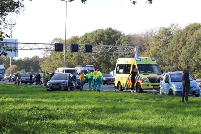 Kettingbotsing zorgt voor megafile op A1.