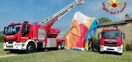 Deux Belges en ballon atterrissent sur une maison en Italie