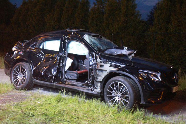 De Mercedes was rijp voor de schroothoop.