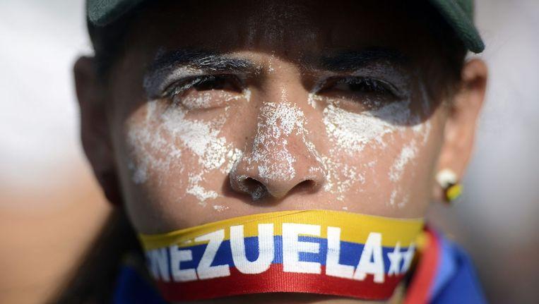 Een demonstrant in Venezuela in 2014 Beeld afp