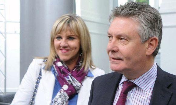 Mireille Schreurs en Karel De Gucht.